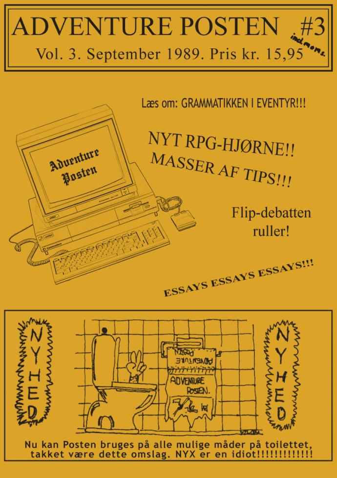 Forsiden af Vol 3, no 3 - 1989
